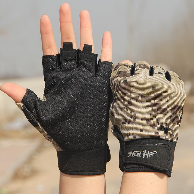 男女情侣军迷战术半指手套男特种兵户外露指登山骑行健身格斗手套