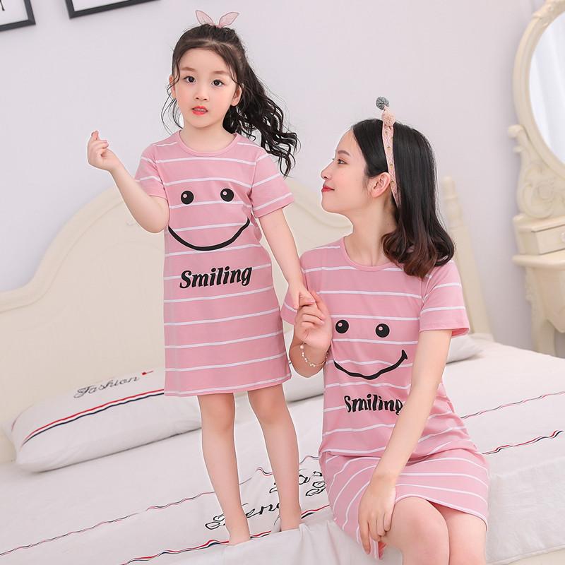 【100%纯棉】夏季儿童大人亲子睡裙套装