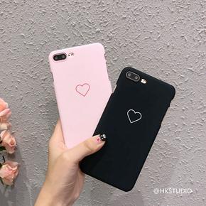 韩国简约少女爱心苹果6s手机壳