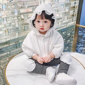 男女宝宝夏季防晒衣薄款女童透气新生儿空调衫1-3岁2婴儿开衫外套