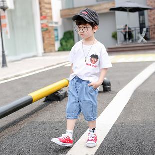 童装男孩夏季儿童短袖短裤两件套