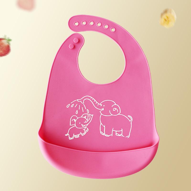 宝宝食饭兜婴儿硅胶吃饭围兜1个装