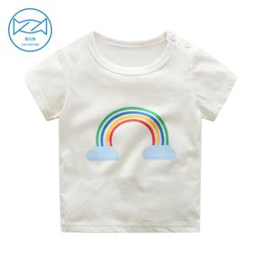 男童女童夏季上衣短袖t恤3-9岁童装