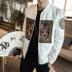 Rồng áo thêu áo khoác nam mùa thu Trung Quốc phong cách của nam giới quần áo kích thước lớn người đàn ông trẻ tuổi của retro triều nam giới của nam giới áo khoác quần áo Áo khoác
