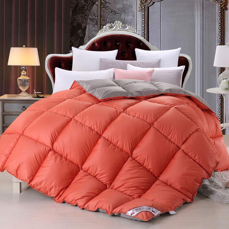 厂家直销正品95羽绒被鹅绒春秋被子加厚冬被保暖羽丝棉被芯特