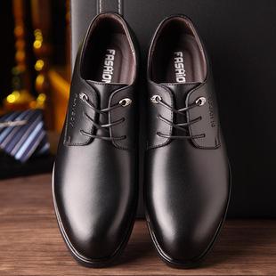 新款男士皮鞋商务正装加绒保暖男鞋