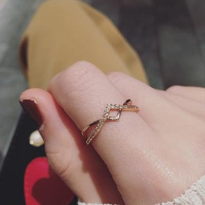 开口可调节网红ins潮人时尚简约个性学生食指环冷淡风戒指女