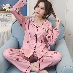 韩版睡衣夏季薄款全棉家居服2件套装