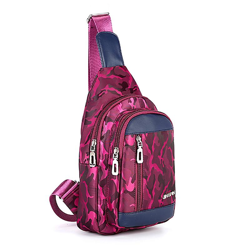 【天天特价】胸包女韩版潮布休闲包包男女包单肩包斜挎包小包运动