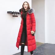 2018 mới chống mùa bông của phụ nữ xuống bông độn coat fur collar kích thước lớn bf bánh mì dịch vụ mùa đông phần dài