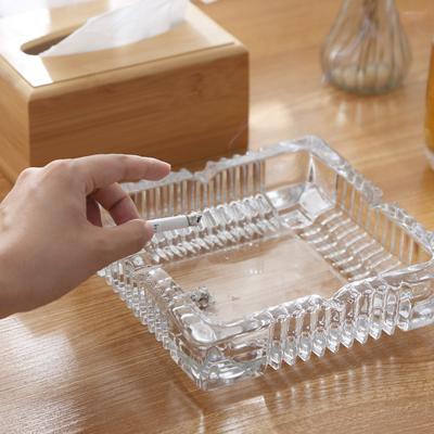 多功能创意水晶玻璃烟灰缸家用客厅酒店大号小号简约个性潮流烟缸