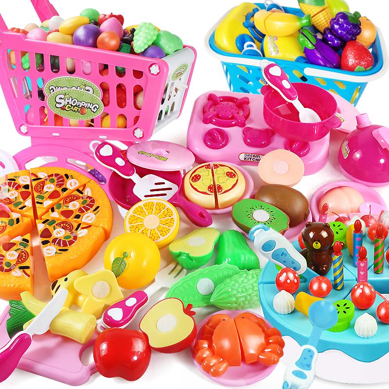 儿童过家家厨房做饭女孩蛋糕切水果蔬菜玩具切切看切切乐魔术贴