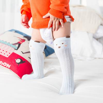 婴儿长腿长筒袜子夏季薄款纯棉春秋男女童宝宝新生儿小孩防蚊过膝