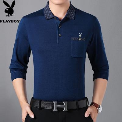 Dâu tằm tơ ngắn tay t- shirt trung niên người đàn ông áo polo ve áo 2018 mùa hè đầm lỏng kích thước lớn phần mỏng băng lụa cha