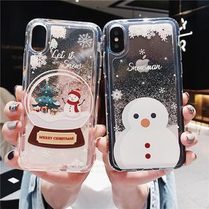 圣诞雪人iphoneXSMAX手机壳