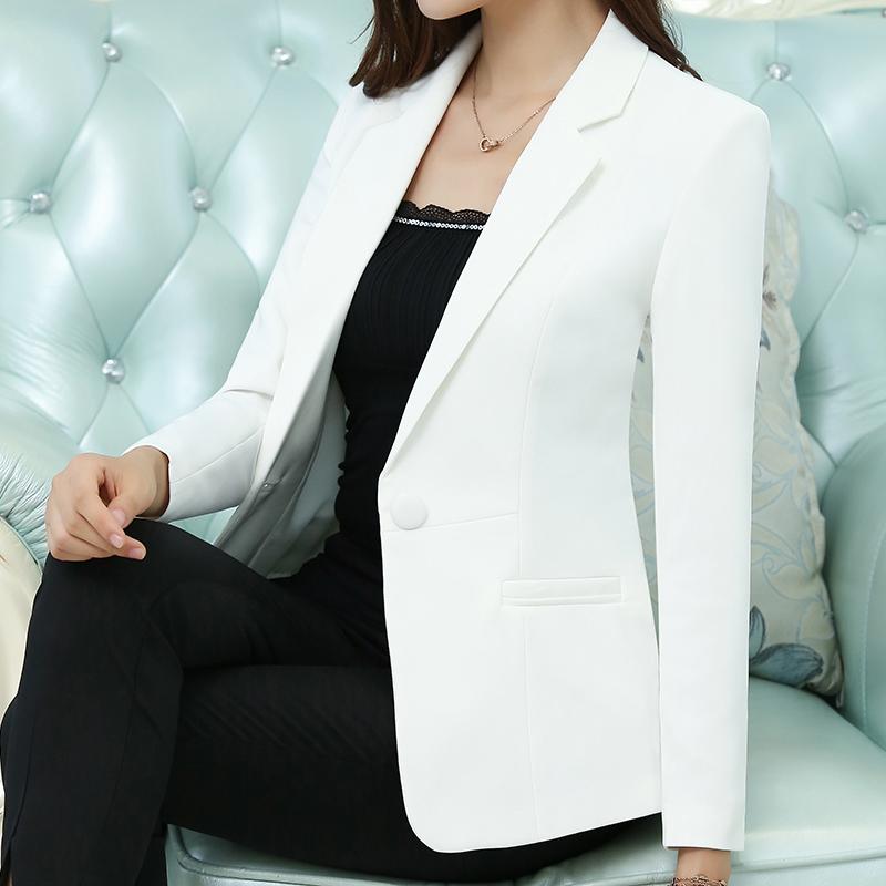 2018 mùa xuân và mùa thu thời trang mới tính khí Slim nhỏ phù hợp với phụ nữ áo khoác đầy màu sắc một nút phù hợp với phù hợp với giản dị hoang dã