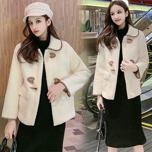 2019冬季新款羊羔毛绒外套女短款加厚皮毛一体保暖冬天韩版外套女