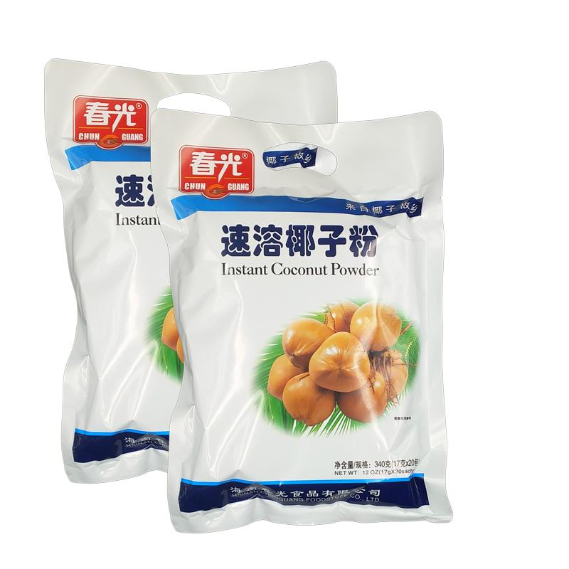海南特产春光速溶椰子粉340gX2袋椰味香醇浓郁速溶即冲即饮
