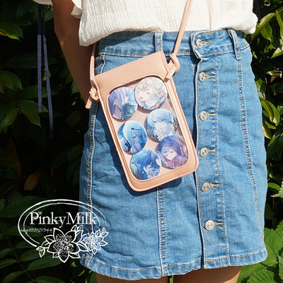 42agent [pain bag] transparent diagonal shoulder pain package! Japanese anime show mobile phone change storage 唧 small bag! - Taobao