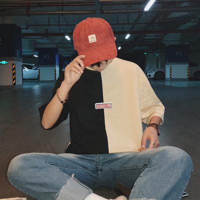 2018 mùa hè mới phù hợp với màu ngắn tay T-Shirt nam lỏng lẻo quần áo đẹp trai Hàn Quốc phiên bản của xu hướng sinh viên nửa tay áo áo thun trắng trơn Áo phông ngắn