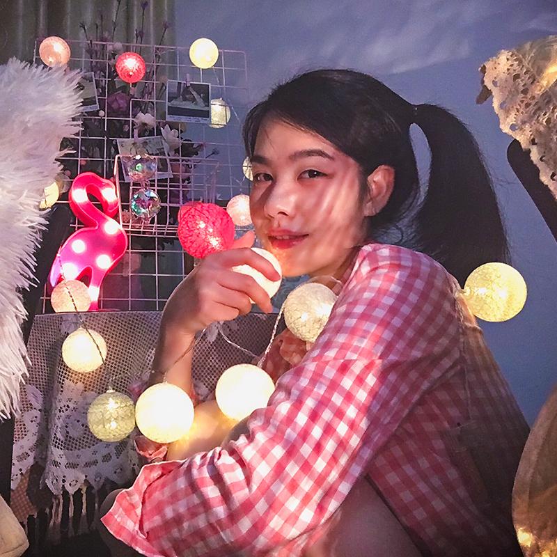 新年彩灯棉线球灯串装饰满天星led宿舍网红灯少女心房间布置ins