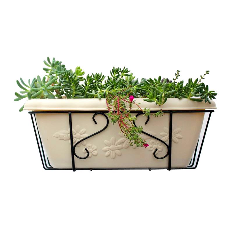 阳台种菜神器爱丽思长方形树脂花盆配花架阳台挂式花盆种菜盆种子