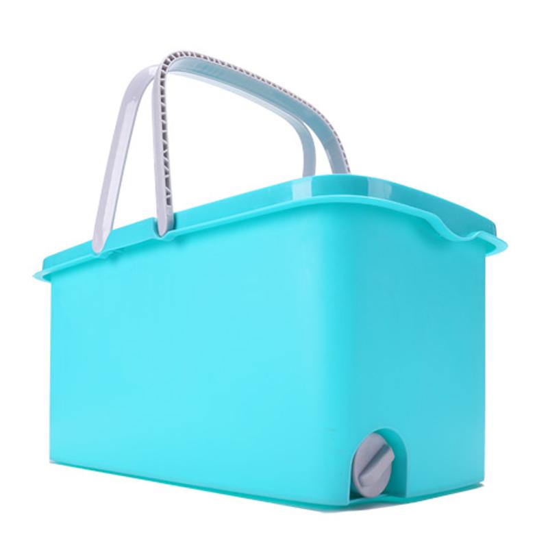 长方形拖把桶家用加厚拖地桶长加厚塑料桶挤水洗地桶带滑轮出水口