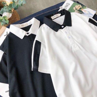 Hồng Kông phong cách ngắn tay polo áo sơ mi nam Harajuku phong cách bf mùa hè sinh viên ins các cặp vợ chồng trang trí cơ thể sọc ve áo T-Shirt xu hướng áo polo đẹp Polo