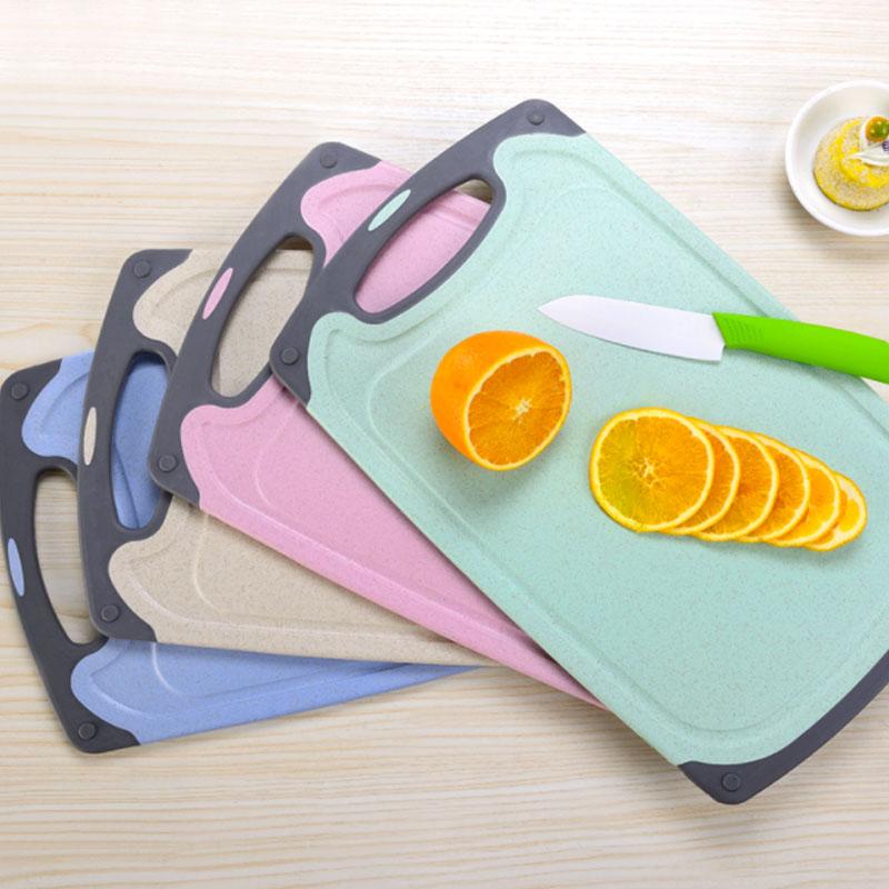小麦秸秆菜板防霉抗菌切菜板家用水果砧板