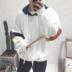Mùa xuân đội mũ trùm đầu cổng gió áo len nam giới thể thao áo khoác Hàn Quốc phiên bản của xu hướng của sinh viên lỏng quần áo mùa xuân và mùa thu thanh niên