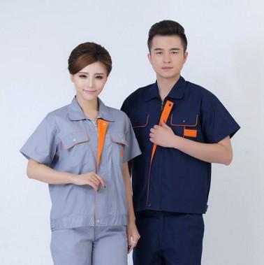Phần mỏng ngắn tay yếm phù hợp với nam giới và phụ nữ lao động bảo hiểm quần áo mùa hè áo khoác hội thảo nhà máy màu xanh dài tay dụng cụ tùy chỉnh