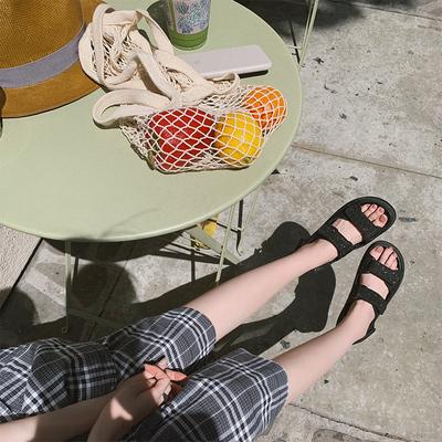 张大奕  懒人bi备不累脚 想在草地上自由蹦蹦跳跳的罗马鞋女鞋