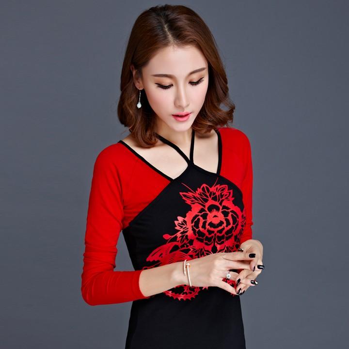 红色8568长袖