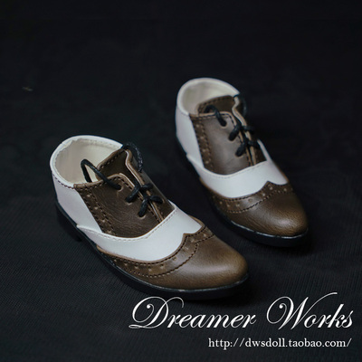 taobao agent BJD/SD doll shoes 3 points baby shoes gentleman flat pointed toe straps suit shoes leather shoes 1/3