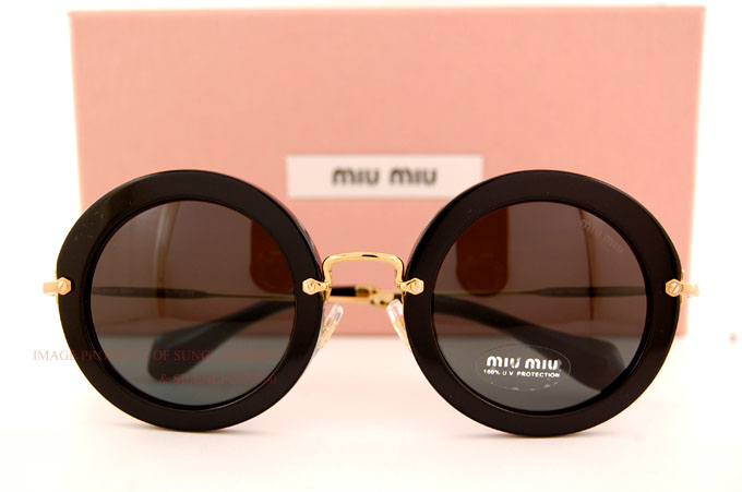 54cb31eea8e1 Brand New Miu Miu Sunglasses MU 13N 13NS 1AB1A1 BLACK GREY For Women ...