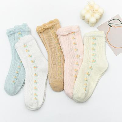 春夏薄款月子袜子全棉孕妇产后产妇袜不勒脚春秋季棉袜松口中筒袜