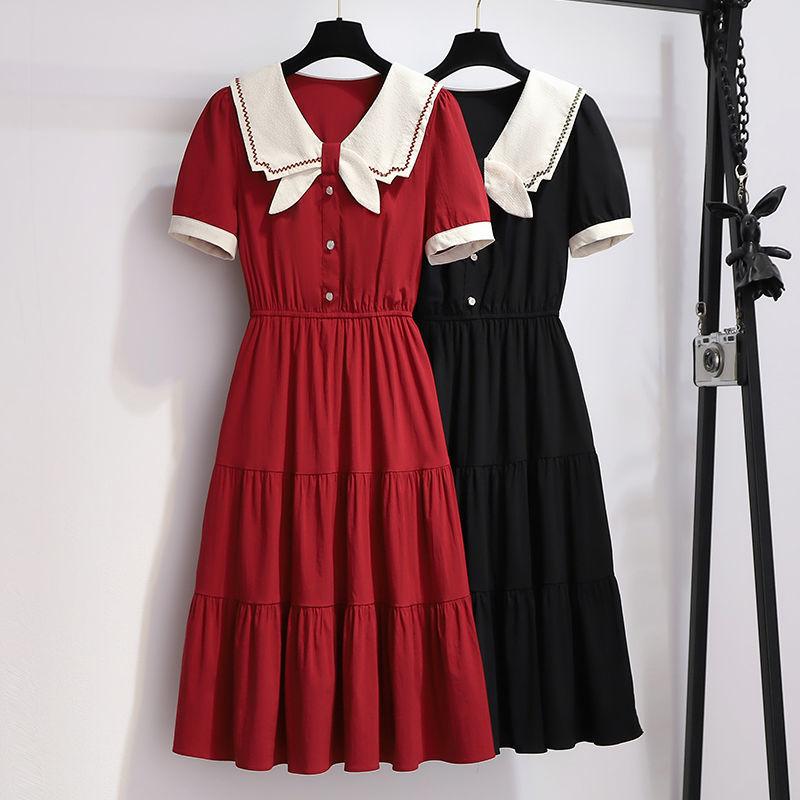 夏季新款小个子收腰显瘦复古赫本风连衣裙