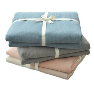 无印良品水洗棉被套单件纯棉床单