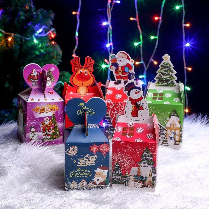 50个圣诞节平安果包装盒苹果盒