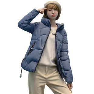 女新款韩版休闲立领短款羽绒棉服