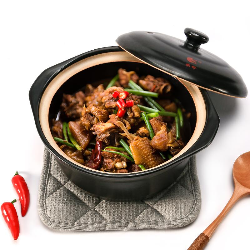 砂锅大容量炖锅韩式养生陶瓷煲☆家用燃气直烧汤锅耐高温沙锅