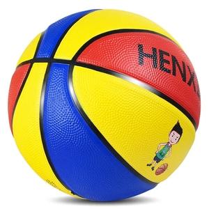 正品3号4号5号7号儿童软皮橡胶篮球青少年幼儿园中小学生耐磨蓝球