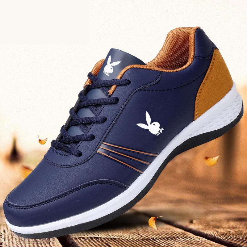 国际2020秋冬季男鞋男士运动鞋皮面防水跑步鞋旅游鞋板鞋