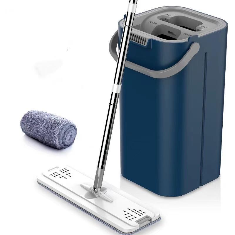 抖音升级●加厚款懒人免手洗拖把家用刮刮乐拖把桶拖地神器平板拖