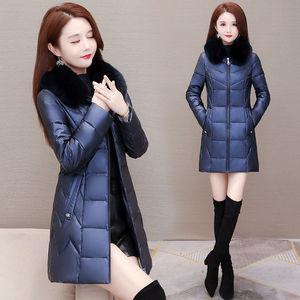 中年女棉衣棉服冬中长款2020年新款爆款加厚棉袄轻薄羽绒棉外套