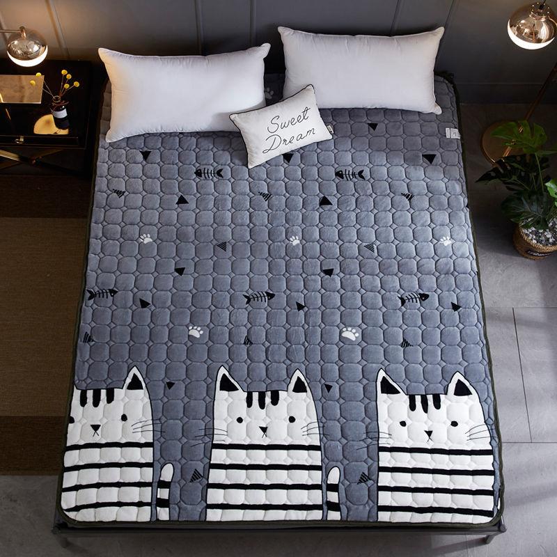 床垫宿舍单人1.5米双人法兰绒睡垫