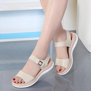 2020夏季新款百搭平底凉鞋女士软底孕妇平跟休闲舒适防滑学生女鞋