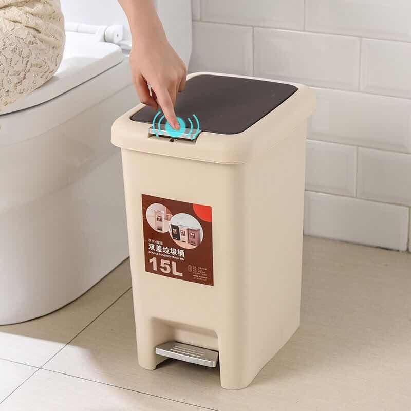 大号垃圾桶脚踏式手按创意卫生间客厅卧室厨房家用带盖厕所垃圾