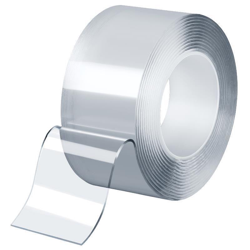 强力纳米胶带双面胶无痕贴片墙面万能防滑随心贴固定�z器透明魔力a