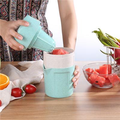 手动水果榨汁机便携家用小型果汁机学生迷你榨汁杯